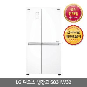 [디오스] LG공식(대명) 신모델 S831W32  821L 양문형냉장고