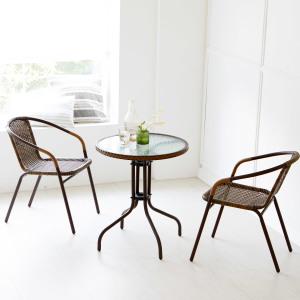 [베스트리빙] 티테이블+의자2개/부부테이블/커피테이블/철제/원형