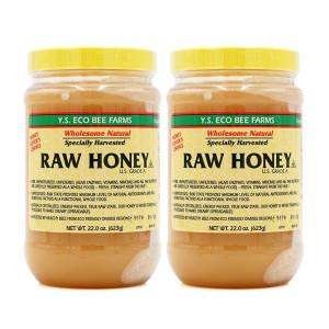 [YS에코비팜스] 2개 YS Eco Bee Farms 생 꿀 로우 허니 A등급 Raw Honey 623 g
