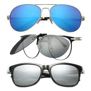 1+1 편광선글라스 변색 보잉 클립형 스포츠 낚시 안경