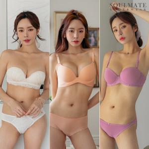 소울글램 코르셋왕뽕브라사기브라팬티/A~D컵/여성속옷