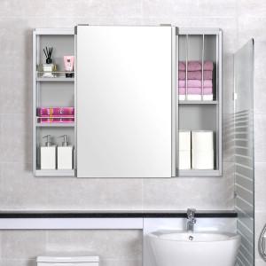 [모아시스템즈] 최고급형 모던 알루미늄 욕실수납장/슬라이딩 욕실장
