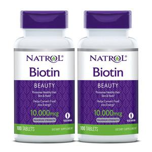 [나트롤] 2개 NATROL 비오틴 Biotin 바이오틴 10000 mcg 100 타블렛