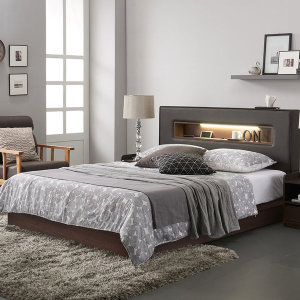 [라자가구] 라자가구 크림슨 아이크 LED 슈퍼싱글 퀸 침대 세트