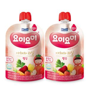 [맘마밀요미요미] 요미요미 야채와과일 빨강 100ml 24팩/주스