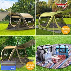 [BUFFALO] 버팔로 프리미엄 캠핑 원터치 팝업 자동 텐트 모음
