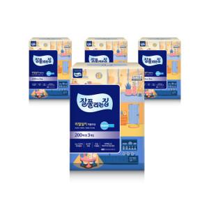 천연펄프 미용티슈 200매 12개(총4팩)+휴대용