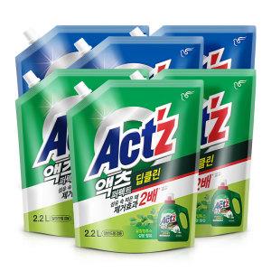 [액츠] 액체세탁세제 퍼펙트 2.2L 3개 안티박 일반드럼겸용