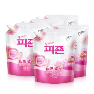 [피죤] 섬유유연제 피죤 2300ml 6개 핑크