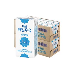 [매일우유] 매일 멸균우유 200ml 48팩/우유