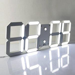 더스윗 3D LED 벽시계 탁상시계 무소음 알람시계