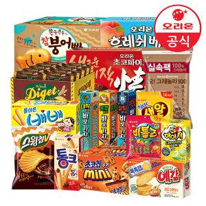 [오리온] 베스트 39종 초코파이/생크림/초코칩/꼬북칩/스낵