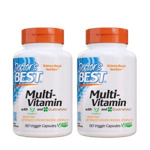 닥터스베스트 2개 Doctors BEST 멀티비타민 철분 미포함 종합비타민 90 베지캡슐