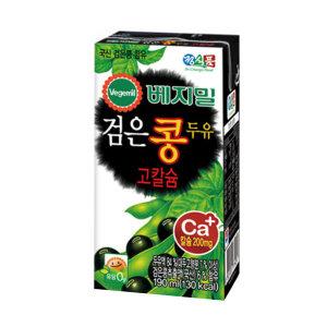 정식품 베지밀 검은콩 고칼슘 두유190ml x 64팩
