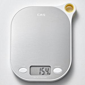 [CAS] 카스(CAS) 주방저울(전자저울) KE-7000 최대1Kg 화이트