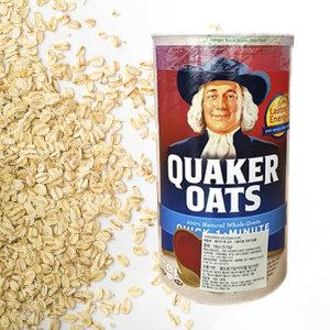 퀘이커 오트밀 1.19kg 볶은 귀리 쌀 가루 우유 시리얼