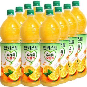 [썬키스트] 오렌지 포도 알로에 쥬스 1.5L x 12개 / 감귤 음료수