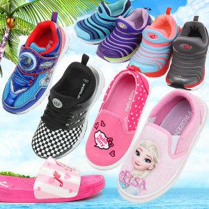 [오키즈]아동 인기캐릭터 샌들 슬리퍼 아쿠아슈즈 운동화 신발