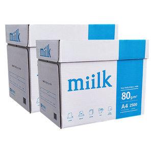 [밀크] 직배송 밀크 복사용지 A4용지 80g 2박스