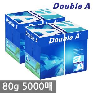 [더블에이](현대Hmall)[무료배송]더블에이 A4 복사용지(A4용지) 80g 2500매 2BOX