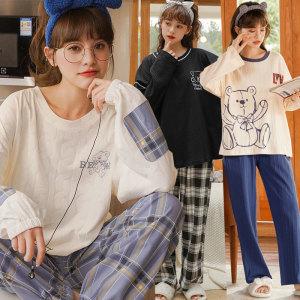 엣지걸샵 홈웨어세트 면잠옷 원피스잠옷 이지웨어