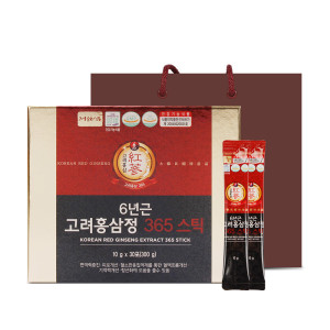 정원삼 6년근 고려홍삼정365스틱(10gx30포)/홍삼스틱