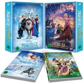 冰雪奇缘+长发公主DVD(2 discs)